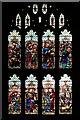 TL9149 : Lavenham Church, Stained Glass Window (3) by David Dixon