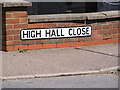 TM2737 : High Hall Close sign by Adrian Cable