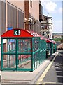 NZ3568 : Bus shelters, Bedford Street, North Shields by Andrew Curtis