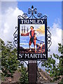 TM2737 : Trimley St.Martin Village Sign by Adrian Cable