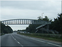 SK1831 : A50 eastbound at Foston footbridge by Colin Pyle