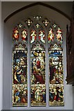TM2749 : North Aisle Stained Glass Window, St Mary's Church by David Dixon