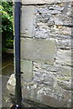 NZ1700 : Benchmark behind downpipe on #9 Railway Cottages by Roger Templeman