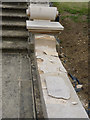SK8932 : New stonework on the Lion Terrace by Alan Murray-Rust