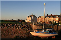 SD1678 : Boat and houses at Sea View, Haverigg by Andy Deacon