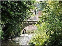 SJ8383 : The Packhorse Bridge, Quarry Bank Mill by David Dixon