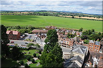 SO8832 : View to the Malvern Hills from Tewkesbury Abbey tower by Philip Halling