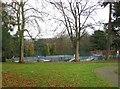 SO8275 : Skateboarding area at Brinton Park, Kidderminster by P L Chadwick