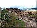 NO5762 : Muck heap near Little Brechin by Oliver Dixon