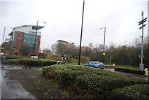 TQ0059 : Roundabout, A320 by N Chadwick