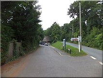 SX4563 : Access road to Bere Ferrers railway station by David Smith