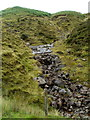 SN9721 : Bouldery mountain stream in the Brecon Beacons by Jaggery