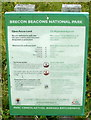 SN9722 : Brecon Beacons National Park Open Access Land notice by Jaggery