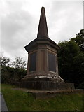 SH5371 : Llanfairpwllgwyngyll: Britannia Bridge memorial by Chris Downer