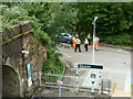 TQ3030 : Police and others enjoying a joke, Balcombe station by Robin Webster