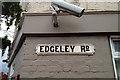 SJ8789 : Cast iron street nameplate, Edgeley Road, Cheadle Heath by Robin Stott