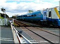 SN4500 : Train crosses Church Road level crossing, Burry Port by Jaggery