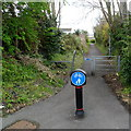 SN4401 : Old tramway now a cycle way, Burry Port by Jaggery