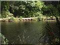 NO4795 : Outflow sluice of Glen Tanar trout loch by Stanley Howe