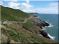 SS5986 : Part of the Wales Coast Path between Snaple Point and Whiteshell Point on Gower by Jeremy Bolwell