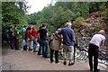NH5799 : Shin Falls Visitors by Mary and Angus Hogg