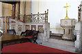 TQ3172 : St Luke, Knights Hill, West Norwood - Chancel screen by John Salmon