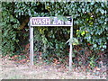 TM1083 : Wash Lane sign by Adrian Cable