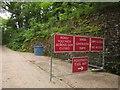 SS9629 : Notices near Wimbleball Dam by Derek Harper