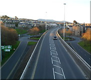 SH4862 : A487 heads south through Caernarfon by Jaggery