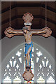 TQ2959 : St Andrew, Woodmansterne Road, Coulsdon - Hanging crucifix by John Salmon