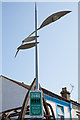 SU4212 : Futuristic lamp post and Dispersal Zone sign by Peter Facey