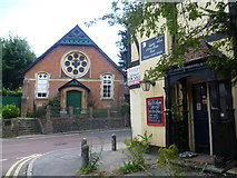 TQ4655 : Chapel and disused pub in Brasted by Marathon