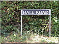 TM1085 : Hall Road sign by Adrian Cable