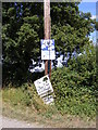 TM1083 : Signs on Hall Lane by Adrian Cable