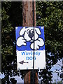 TM1083 : Waveney Dog sign on Hall Lane by Adrian Cable