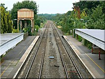 ST9897 : North from the footbridge, Kemble Railway Station, Kemble by Brian Robert Marshall