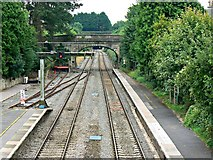 ST9897 : South from the footbridge, Kemble Railway Station, Kemble by Brian Robert Marshall