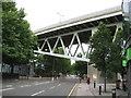 TQ1778 : Brentford: A3002 & M4 Motorway by Nigel Cox