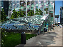 TQ3780 : Entrance to Station, Canary Wharf, London by Christine Matthews