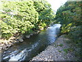 SO0602 : River Taff at Troedyrhiw by Ruth Sharville