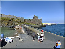 SC2484 : Slipway and causeway to Peel Castle by Richard Hoare