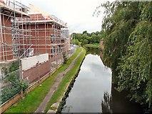 SJ9495 : Three-storey houses under construction by Gerald England