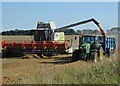 TA0521 : Harvesting at Barrow Mere by David Wright