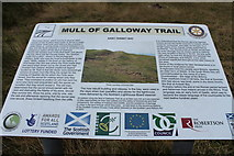 NX1430 : Mull of Galloway Trail Information Board by Billy McCrorie
