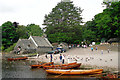 NY2622 : Keswick Lakeside, view from landing stage by Rose and Trev Clough
