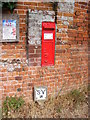 TG2705 : Kirby Bedon Victorian Postbox by Adrian Cable