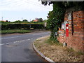 TG2705 : Kirby Road & Kirby Bedon Victorian Postbox by Adrian Cable