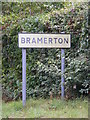 TG2805 : Bramerton name sign by Adrian Cable