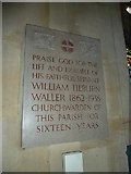 TQ1649 : St Martin, Dorking: memorial (f) by Basher Eyre