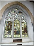 TQ1649 : St Martin, Dorking: stained glass window (A) by Basher Eyre